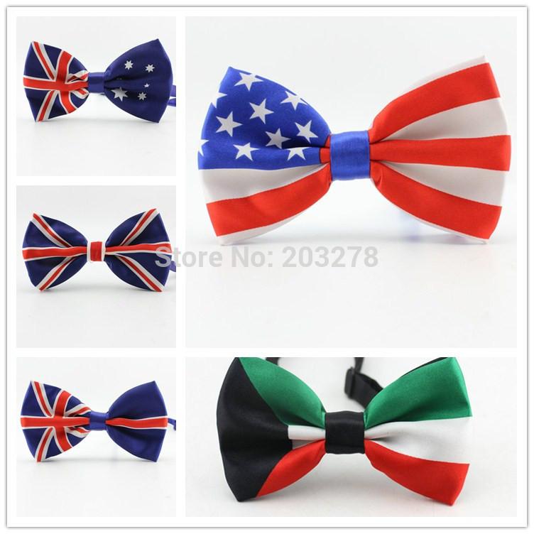 fashion men bow tie Union Jack British Flag bowtie Australian American Flag bow ties Necktie(China (Mainland))