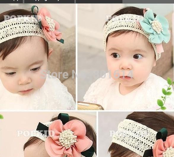 2014 Fashion Design Baby Girls Kids Infants Children Newborn Big Flower Headband Headwear Hair Accessories(China (Mainland))