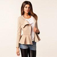 Brand quality new desigual 2015 spring autumn long sleeve slim waist zipper women casual jacket American Apparel fashion clothes