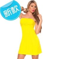 2015 new fashion Sexy Women Bandage Bodycon Backless Strapless Clubwear Dress