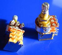 Free Shipping 20PCS Gold Plated Shaft Push Pull Audio B250K Switch Tone Control Pot Potentiometer Coarse Knurling Shaft