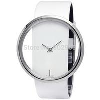 Ladies' Watch Simple Transparent Dial Quartz Wrist watch with PU Leather Strap 50pcs