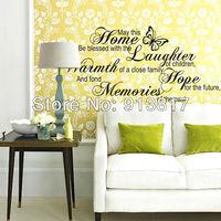 Free Shipping 115cm*56cm DIY Parenthood English alphabet Wall Stickers Decal Wallpaper Art Home Decor