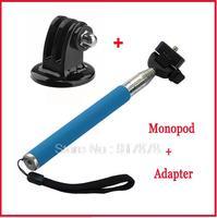 2 in 1 Aluminium Handheld Mini CameraTripods + Mount Adapter Selfie Stick For GoPro Hero Camera Monopod Mobile Phone Monopod