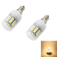 2pcs/lot E14 E12 E27 G9 GU10 27x5050 SMD Warm White LED bulb AC 220V 240V  Energy-saving LED Lamp High Quality LED lamp Tubes