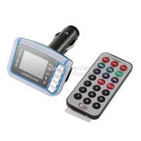"1pcs Hot 1.44"" LCD Wireless FM Transmitter Car MP3 Player SD TF Card USB Drive Remote Drop Shipping"