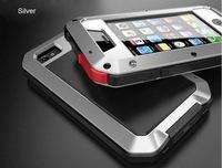 New Version Waterproof Shockproof Dustproof Underwater Diving Aluminum Gorilla Glass Metal Cases Cover For  Iphone 4 5 6 6plus