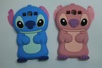 Lilo 3D Cartoon Stitch Soft Silicone Silicon Case Cover for Samsung Galaxy S3 I9300 stitch & bear Skin Cover Movable Ear