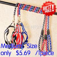 Lose Money Promotions Reflective Dog Harnesses Round Leash Set 3 colors red blue black