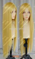 FSX5985Q>>100cm Golden Blonde Straight Lolita Cosplay Party Wig