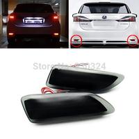 2x Black Smoked Lens Bumper Reflector LED Tail Brake Light for Corolla Lexus CT200h 11-13