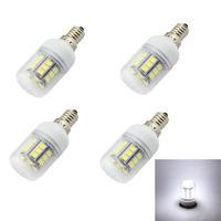 4Pcs/lot  E14 E12 E27 G9 GU10 27x5050 SMD White LED bulb Energy-saving AC 220V240V LED Lamp High Quality LED Bulbs lamp Tubes