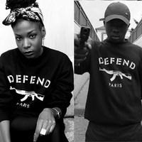 Moussy Spoof Rock Pullover Sweatshirt Letter Women Hoodies Coat Gun Print Casual Unisex Ladies Sport Shirt Brand Sweatsuit