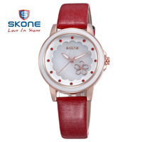 New Arrival SKONE Women Genuine Leather Strap Watch And Jewelry Decorative Rhinestone Watches Quartz Watch