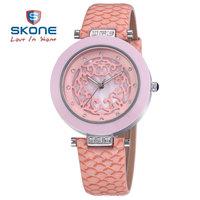 SKONE Women Genuine Leather Strap Watches Women Dress Wristwatches  Quartz Watch for HOT Sale  Women