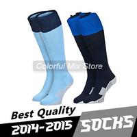 Free Shipping 2015 KUN AGUERO TOURE YAYA Soccer Socks Best Thai Quality Soccer Jerseys football Socks
