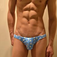 3 trigonometric male fashion panties skull pattern trigonometric low-waist tight panties