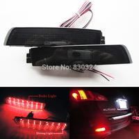 2X Black Smoked Lens Rear Bumper Reflector LED Tail Brake Light For Nissan Juke Z51 Murano Infiniti FX35 FX