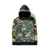 Cool new 2015 hip hop style unisex men abstract printing 74 long sleeve cotton hoodie pullover