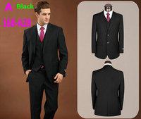 2015 Men Brand Designer Business Suits Slim Fit Wool Suits (jacket+Pants+Vest) Fashion Wedding Tuxedos Male Prom Dress suit 1X58