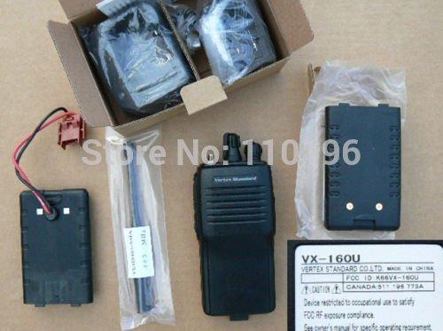 Handheld UHF FM Transceiver Vertex Standard VX-160 two way radio DHL free shipping free(China (Mainland))