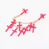 Multi Neon Color Cross Pendant Collar Pin Collar Tips Brooch CY023 coupon MXIUX