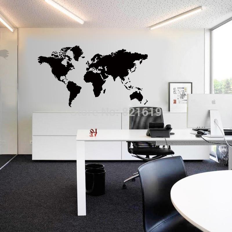 3d diy world map wall sticker creative home decor big size Bedroom wall designs in pakistan