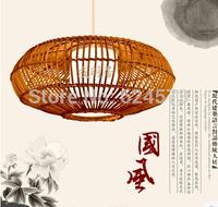 Chinese handmade rattan lamp Garden Restaurant Chandelier Bedroom study lamp farm teahouse Chandelier