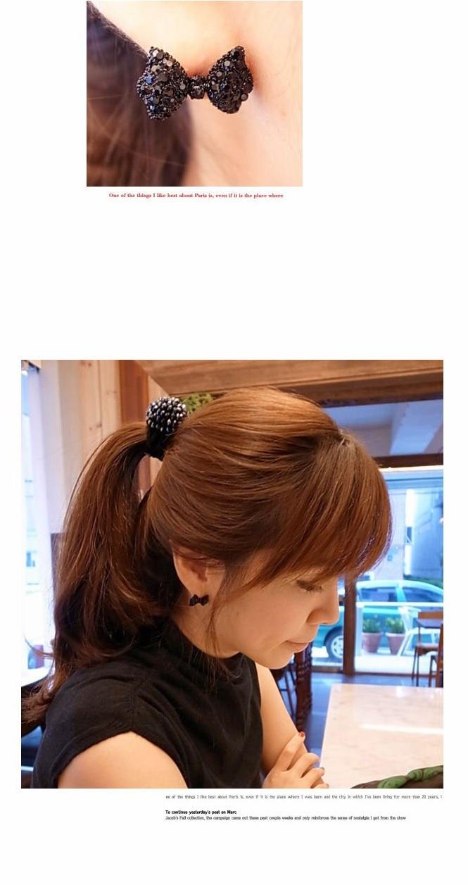 De la mode occidentale noir simple nœud papillon boucles d'oreilles bijoux pour femmes 2015 gros