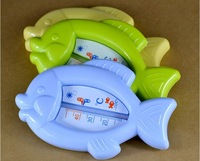 EMS/Fedex 100pcs Bathroom Baby Bath Toy Fish Shape Thermometer Temperature Gauge for Wet and Dry Use