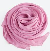 Chiffon and scarf  Skin pink
