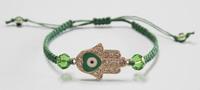 3*2.2cm Heart Evil Eye Bead Hamsa Hand of God Fatima Charm Handmadke Bracelet
