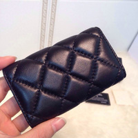 fashion leather  key case wallets key chains guaranteed 100% genuine leather wholesale original lambskin