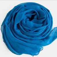 Chiffon and scarf  Deep blue
