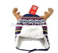 New Winter Warm Boys Girls Children Baby Christmas Snowman Hat Christmas Hat Velvet Antler  Hat A121