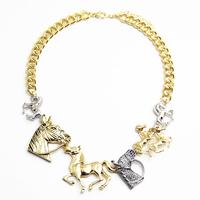Vintage Jewelry Fashion Horse Choker Necklace Accessories Charms statement necklaces & pendants necklaces 2014 new MXIUX