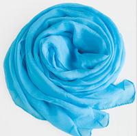 Chiffon and scarf  Light blue