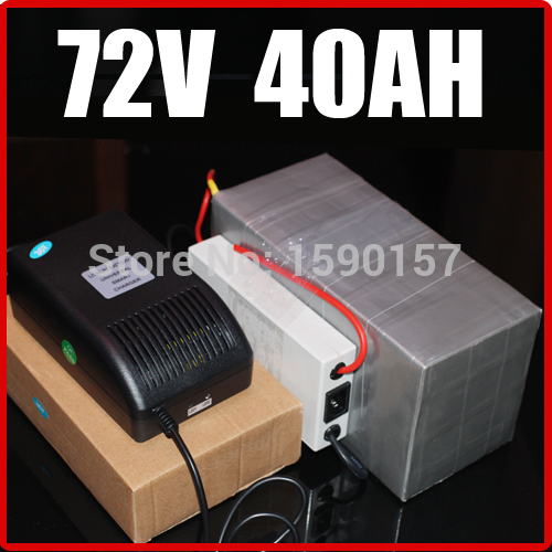 Батарея для электровелосипеда 72V 40AH LiFePO4 , Chargrer, RC e 2015029 аккумуляторная батарея bik lifepo4 38120s lifepo4 48v 10 40