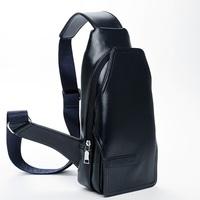 Fine Genuine Leather Men Women Casual Crossbody Chest Shoulder Bag