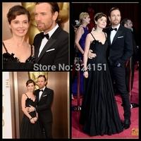 Free shipping Latest New elegant black beaded celebrity evening dress