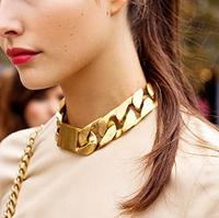 Fashion punk fashion star style coarse chain metal statement necklaces & pendants bracelet jewelry set 2014 new short  MXIUX