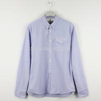 2015 Pepe jeans men shirt male 100% cotton stripe fashion casual men's clothing long-sleeve shirt size XS --XXL plus size bosco