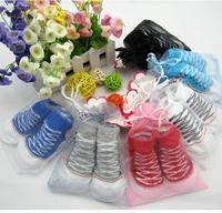 12pcs=6pairs/lot Free shipping Baby Socks Newborn Baby Outdoor Shoes Baby Anti-slip Walking Sock kid's Gift  Wholesale #0978
