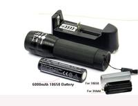 Mini led flashlight Portable CREE LED 600LM Zoomable torch Flashlight 3 Mode bikelight + 1 X 3.7v 6000mAh 18650 + charger