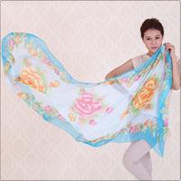 Free Shipping(5pcs/lot) Whole Sale New Style Women Chiffon Scarves Sweet  Large Scarf / Shawl /Wrap / Pashmina 170*70cm
