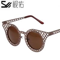 Vintage sunglasses female star style male sunglasses big box black sun glasses