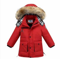 New 2014 Children's  Down Jackets For Boys Casual Children Outerwear For Winter