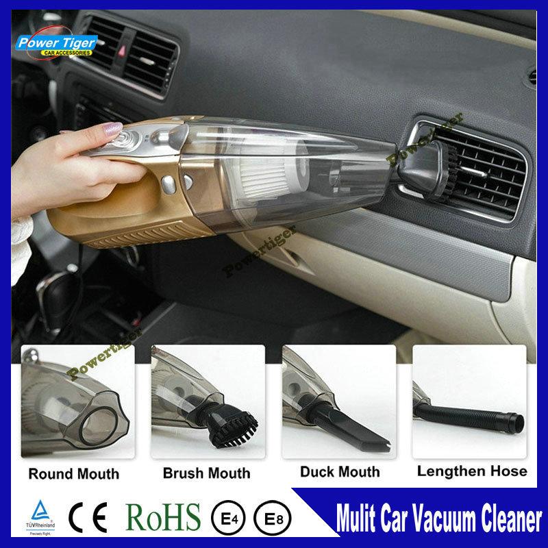 New Vacuum 60w Portable Car Vacuum Cleaner Dry&Wet 12v aspirador de po portatil For Car Tire Pressure Air Pump with Lighting(China (Mainland))