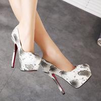 2015 new European style  women pumps   Comfortable new waterproof  Serpentine high heels women shoes  sexy stiletto shoes