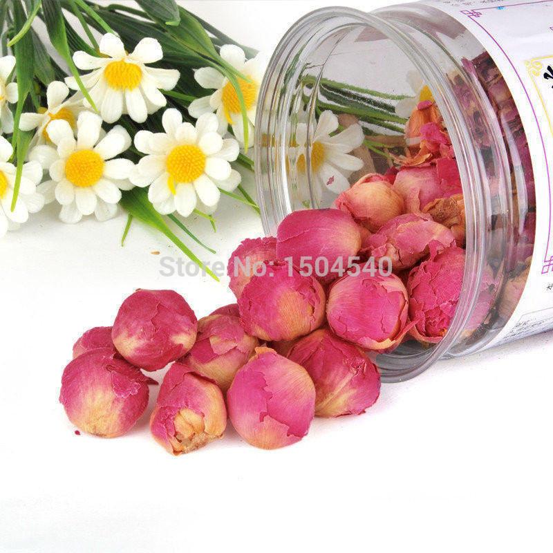 Купить Еда  Free shipping Peony Flower Tea Pink Fragrance Flower Ball Herbal Medicine Premium Tea 50g  None